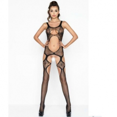 Catsuit Passion Erotic Line BS039 Preto