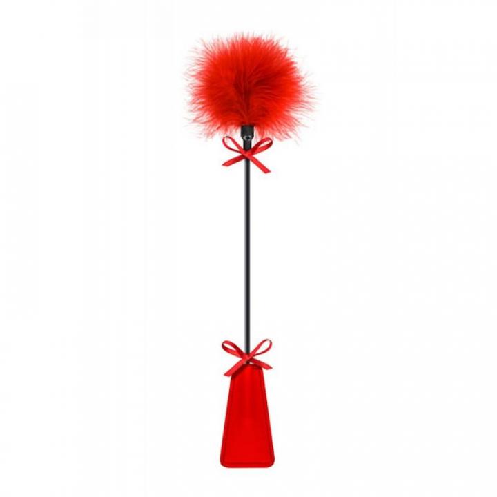 Chibata Com Pluma Sweet Caress Vermelha